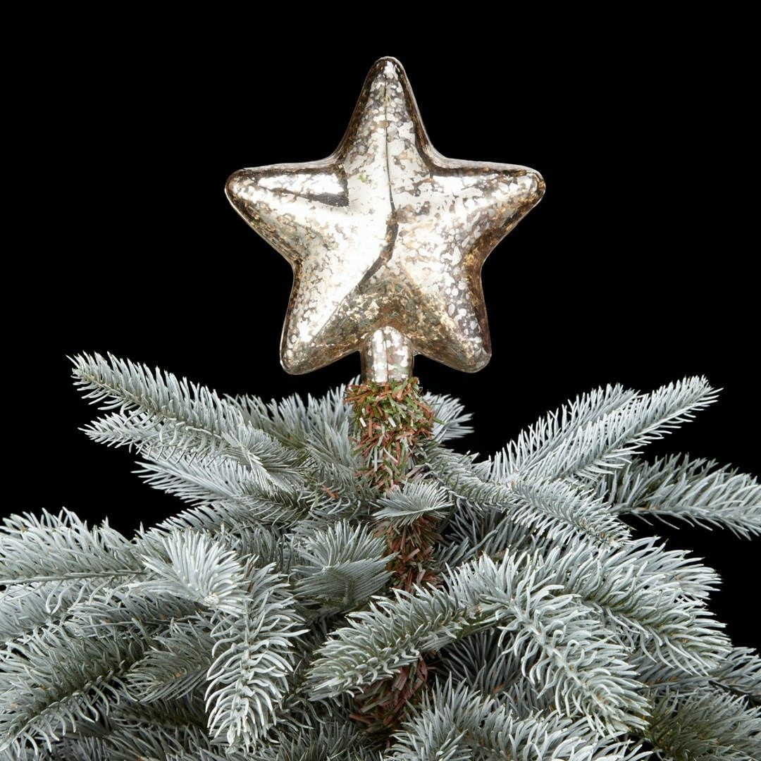John Lewis Winter Palace glass gold star tree topper (With