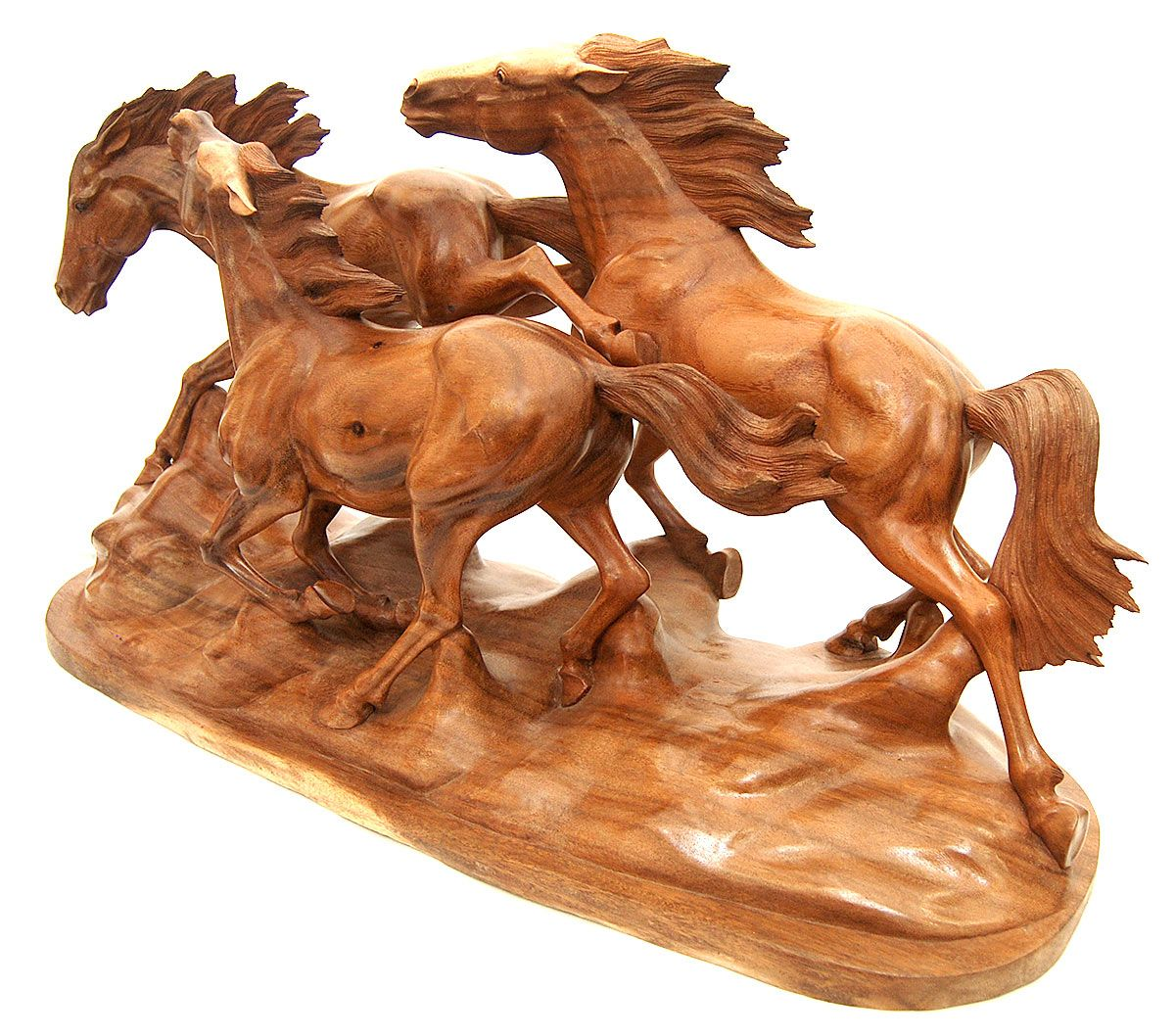 Wooden horse patterns - Wood Carving Horses Wild Horse Exotic Wood Animal Carving A One Of