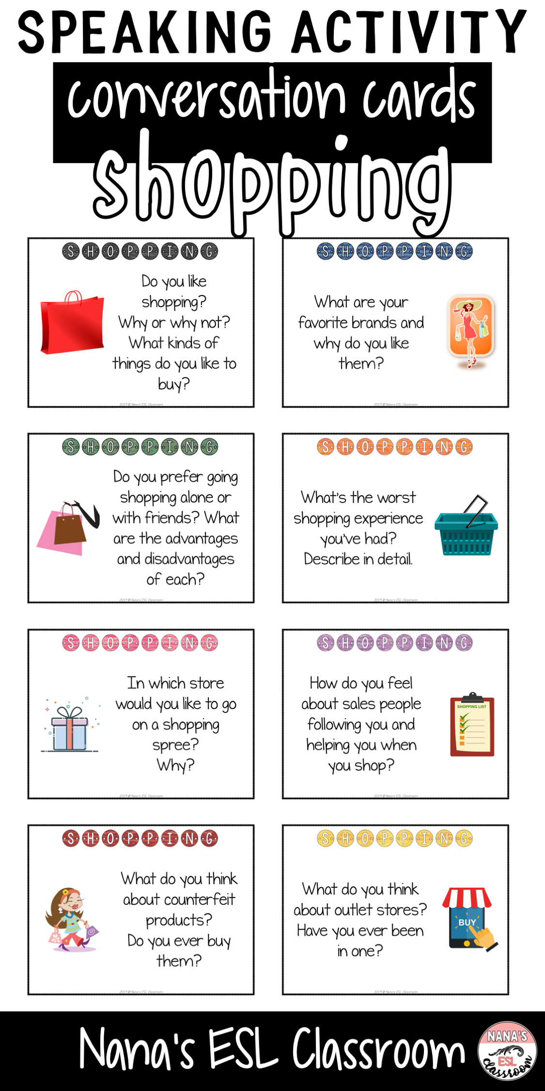 Conversation Starters About Shopping