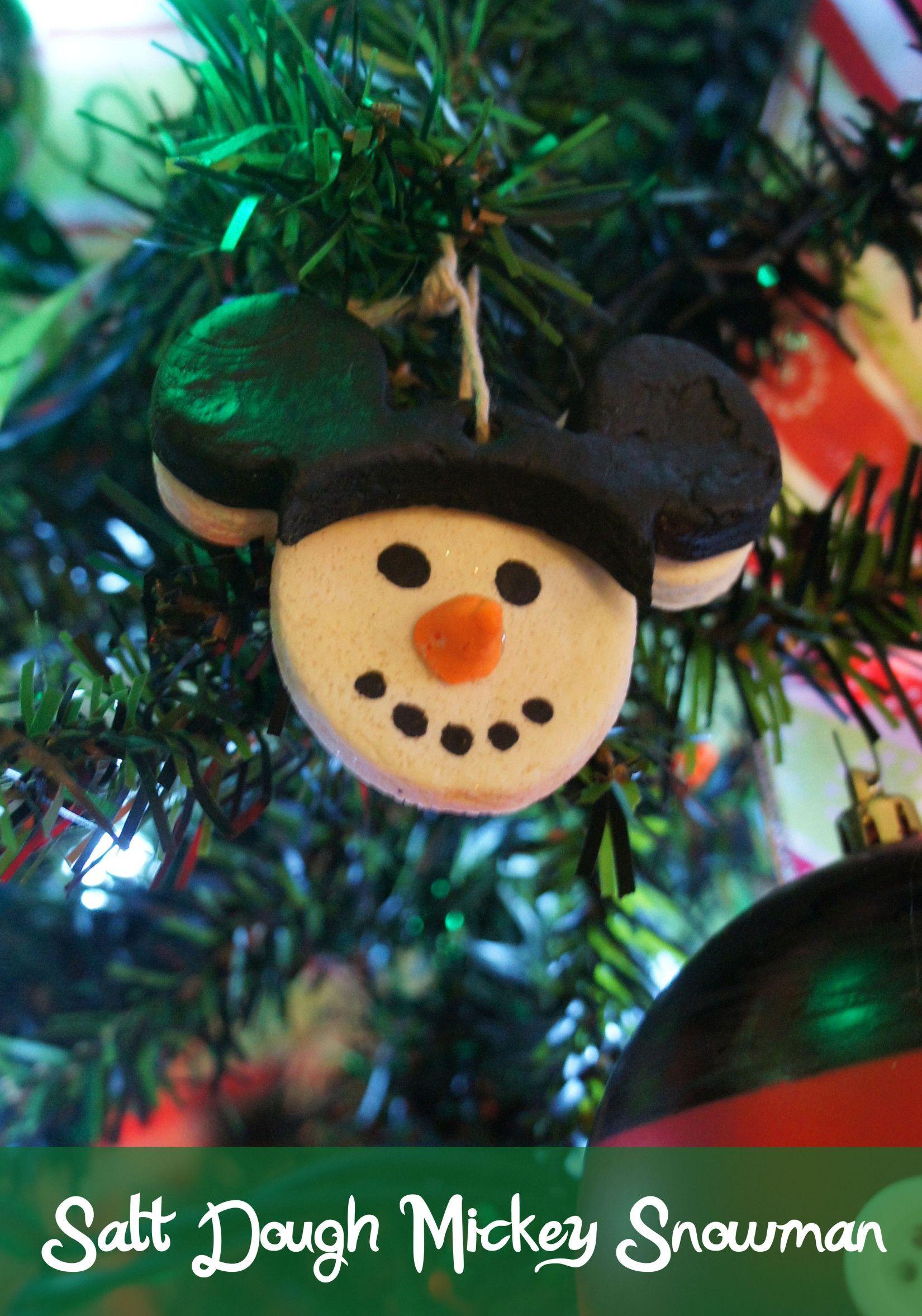 Salt Dough Mickey Snowman Ornaments Homemade Christmas Ornaments Diy Felt Christmas Ornaments Disney Christmas Ornaments