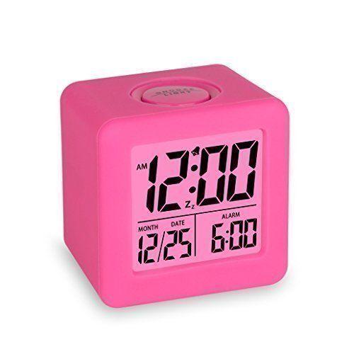 Amazon Com Plumeet Easy Setting Travel Alarm Clock With Snooze Soft Night Light Cute Silicone Cover Digital Clock Alarm C Alarm Clock Travel Alarm Clock Clock