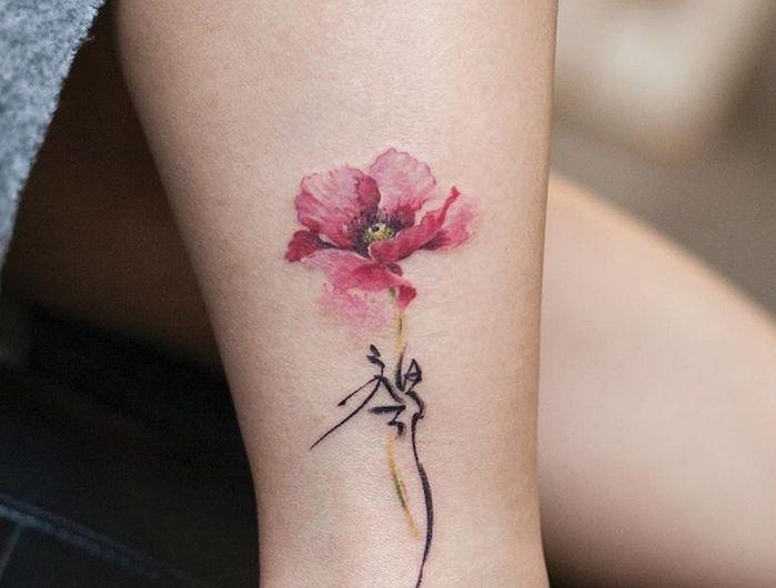 tatouage coquelicot un champ de 52 mod les en photos tatouage coquelicot pinterest. Black Bedroom Furniture Sets. Home Design Ideas