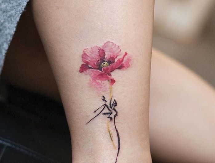 Tatouage Coquelicot Un Champ De 52 Modeles En Photos Tatouage