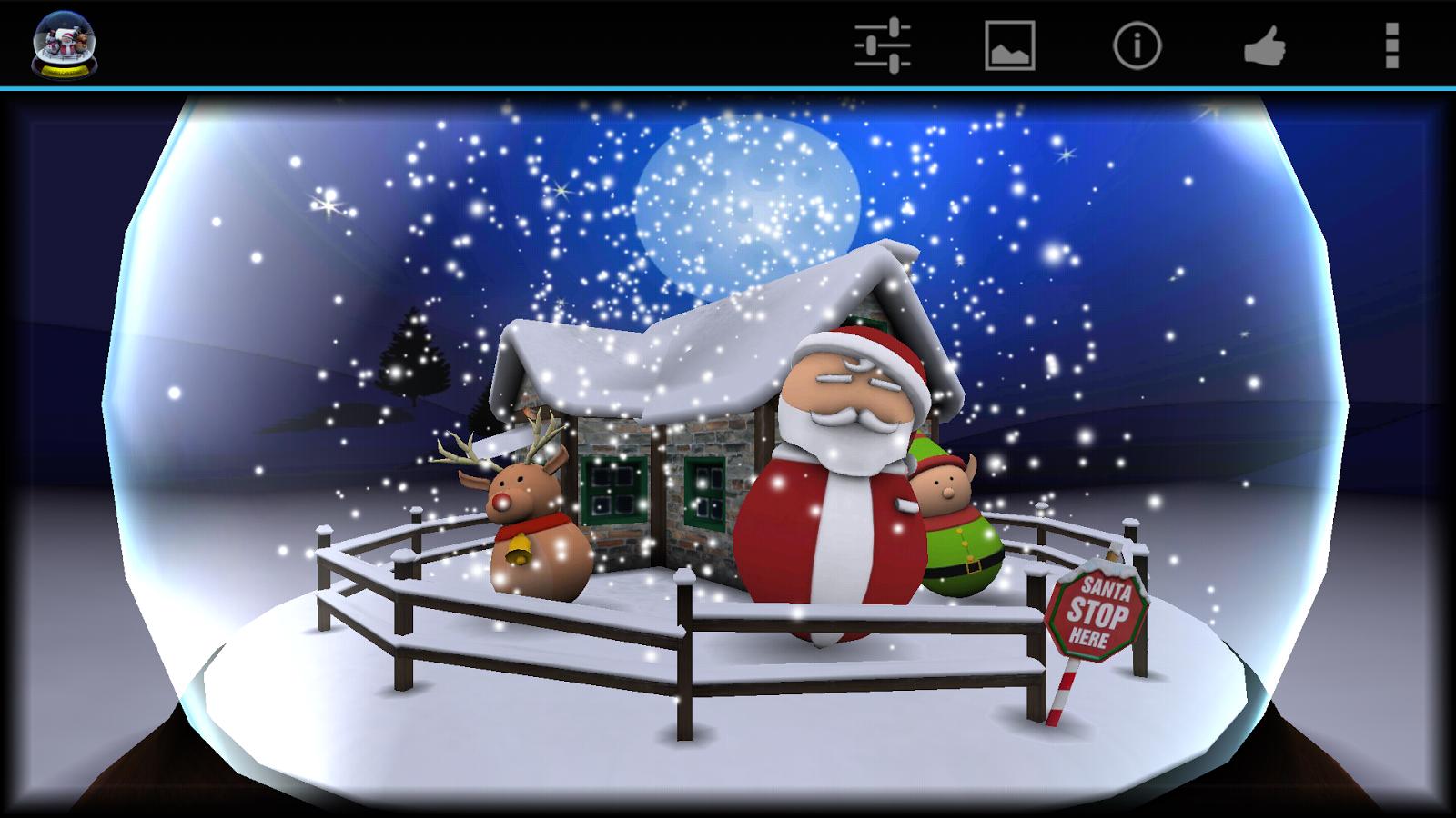 3D Christmas Advent Snow Globe- screenshot   Fondant Cake ...
