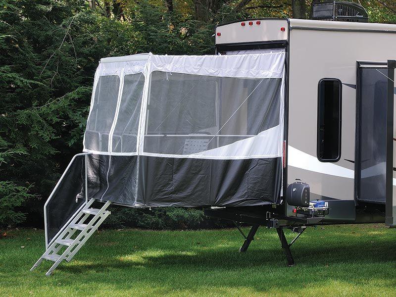 patio kits toy hauler camping trailer
