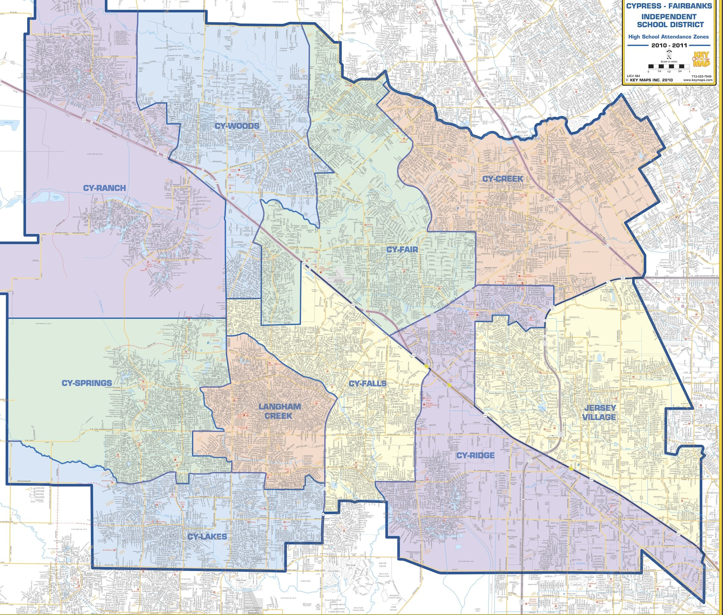 Map Of Texas High Schools.Cy Fair Isd Map Cy Fair Isd High School Boundary Map School