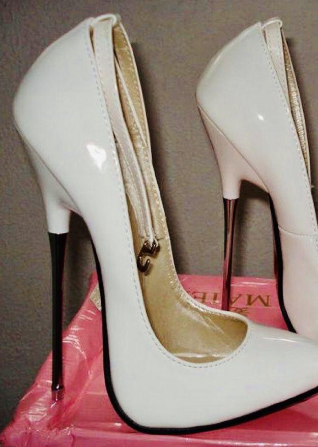 Solid Color Platform Extreme High Stiletto Heels- Shoespie.com