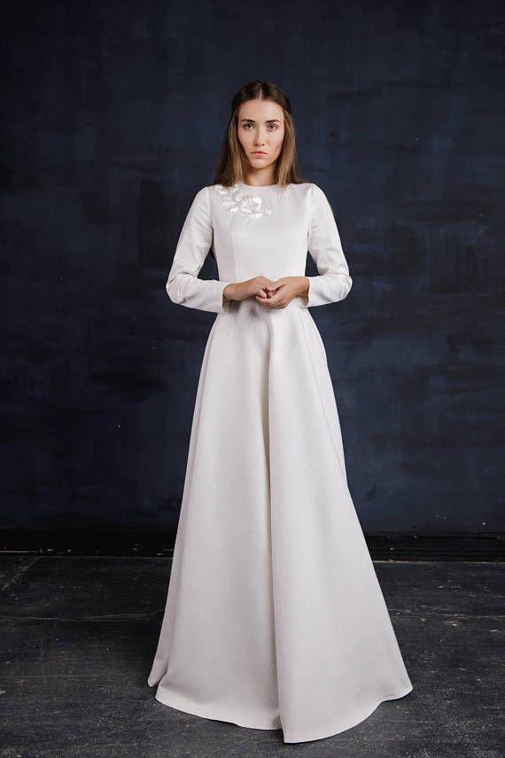 Winter wedding dress Length floor dress evening dress | Pink Powder ...