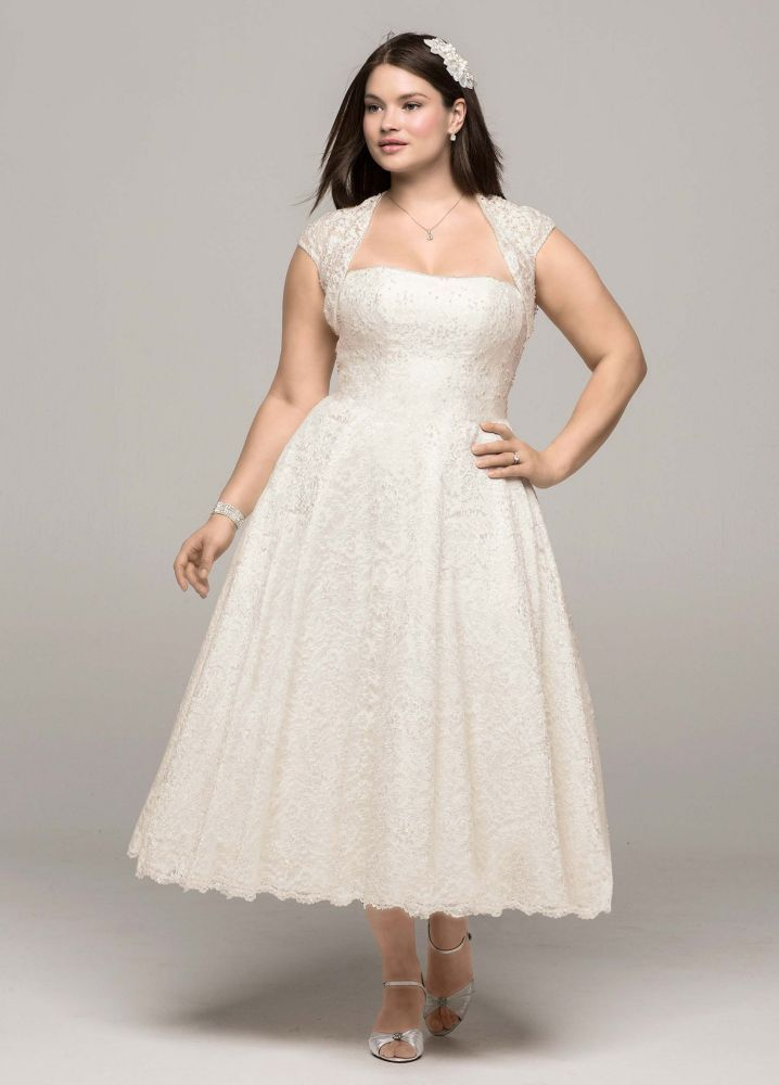 Perfect GORGEOUS PLUS SIZE WEDDING DRESS FOR CURVY BRIDE