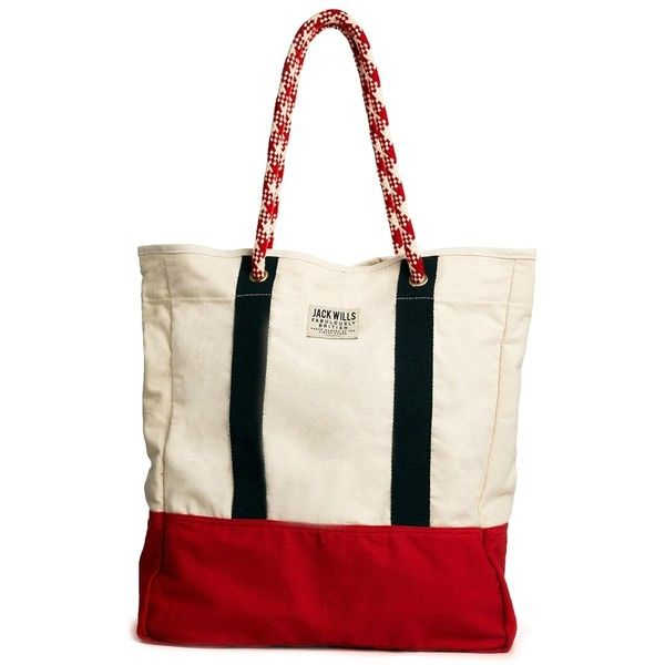 Jack Wills Rope Handle Shopper Bag ($41) found on Polyvore