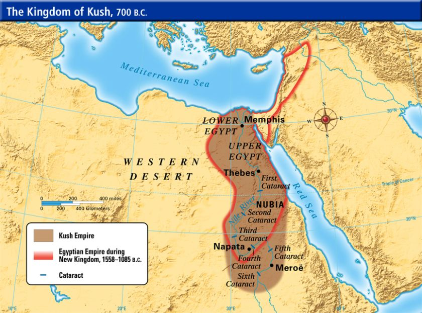 Kingdom Of Kush In BC Sudan And Nubia Pinterest African - Map of ancient egypt first cataract