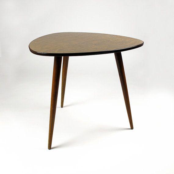 Mid Century Large Tripod Table. by ArqueologiaDomestica on Etsy, €225.00