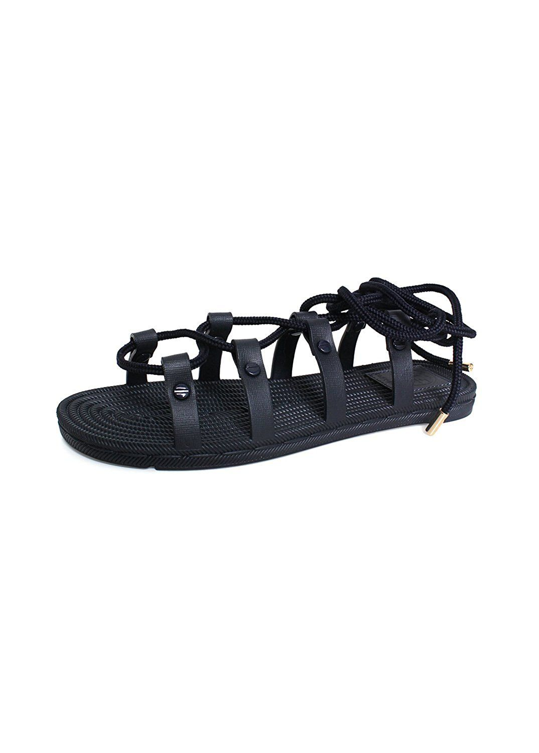 0231c69c41a8 Tory Burch TB Cord Lace-Up Strappy Rubber Sandal Tory Navy Blue Size 6 M      Remarkable outdoor item available now. - Strappy sandals