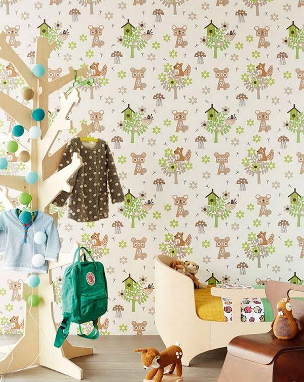Papeles pintados retro decoraci n con papel para paredes - Papeles pared infantiles ...