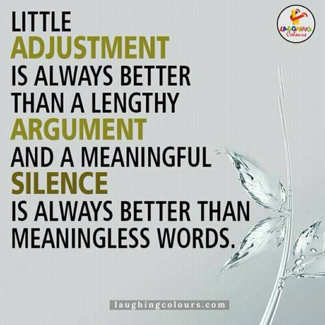 Silence & Adjustment | Good morning quotes, Morning ...