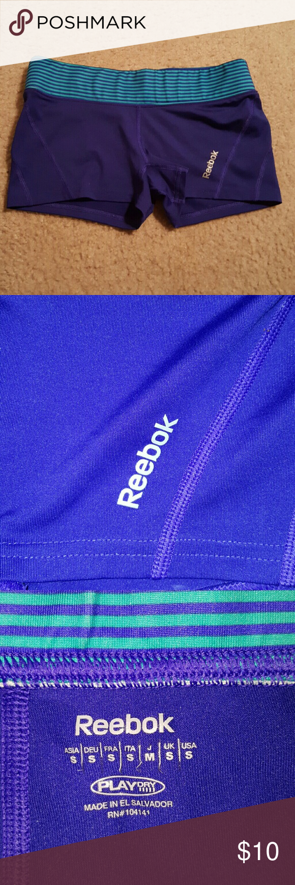 Play dry reebok spandex blue sz small Sz small great condition no stains or holes Shorts