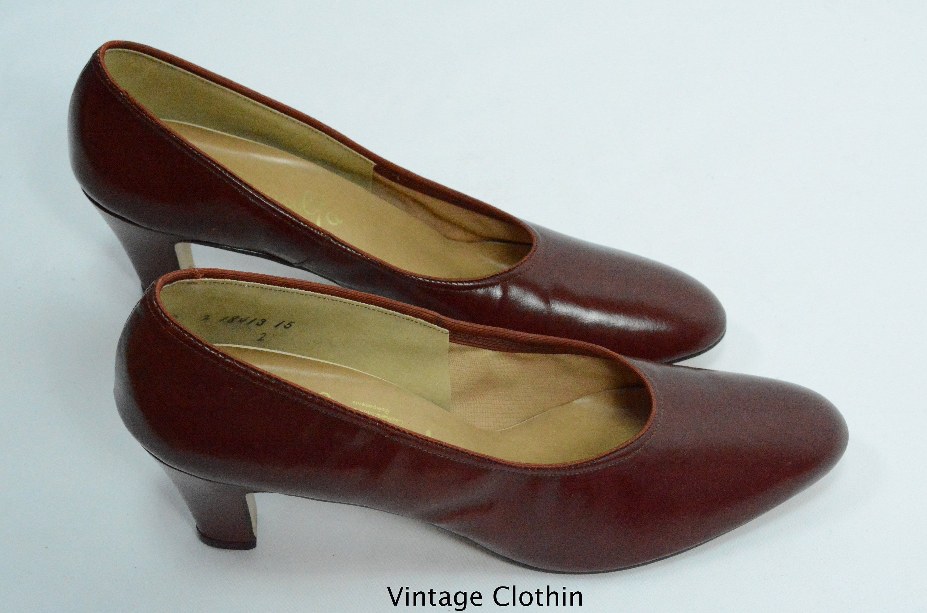 4c855f8e5ad62 1980's does 1950s Penaljo Wine Color Pumps, New Old Stock, 1980s ...