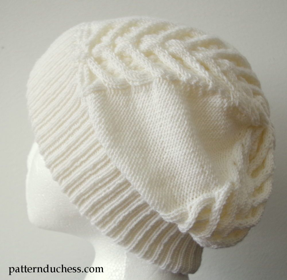 Cable knit slouchy hat with brim | Slouchy hat, Knitted hat and Knit ...