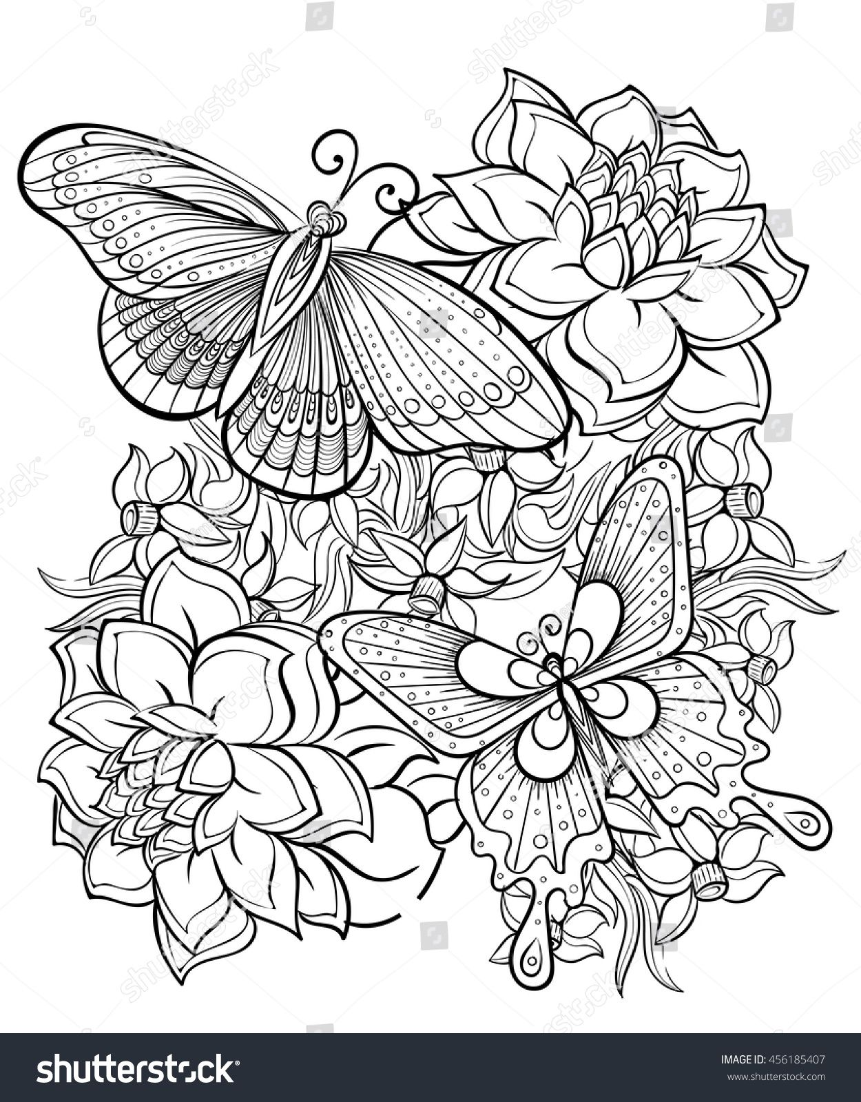 Coloring Book For Adult Vector Illustration