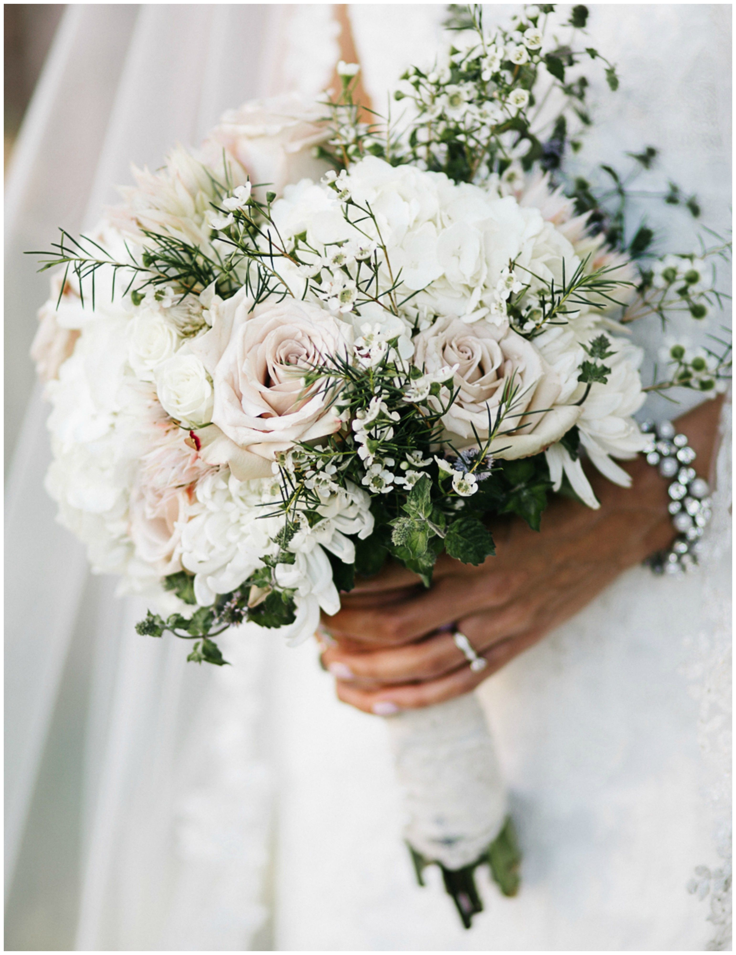 classic wedding bouquet, white florals, roses, pin to your