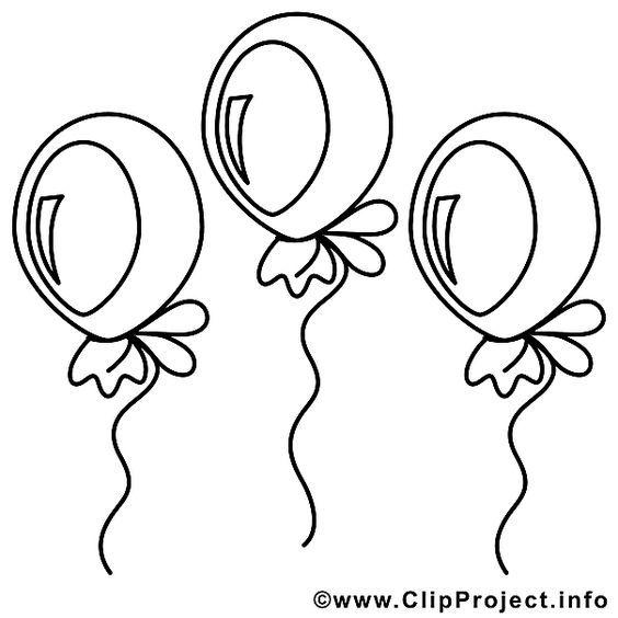 Luftballons Vorlage zum Ausmalen | Ausmalbilder | Pinterest