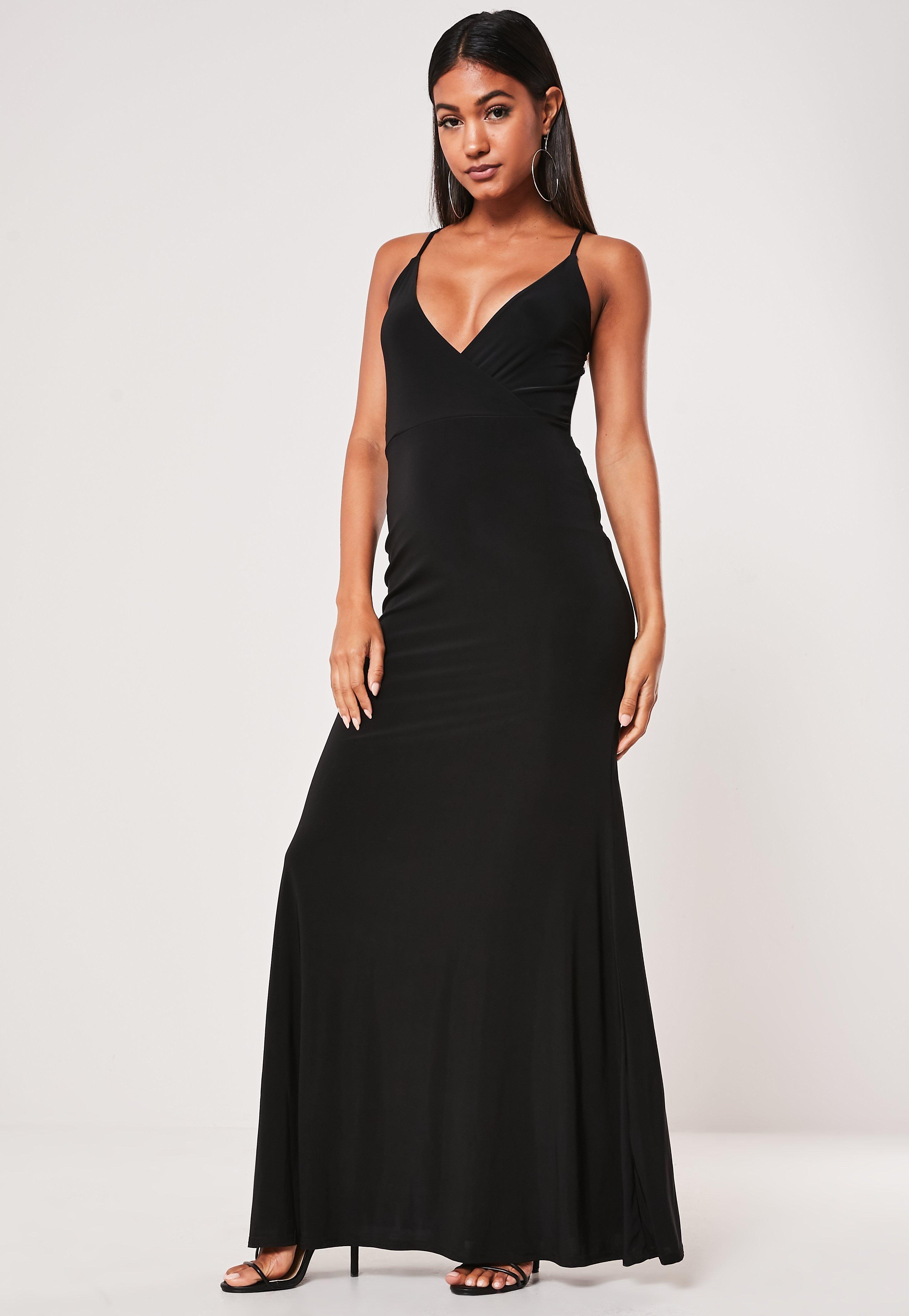 Black Slinky Lace Back Strappy Maxi Dress Sponsored Lace Affiliate Slinky Black Women Dress Online Dresses Trending Dresses [ 4200 x 2900 Pixel ]