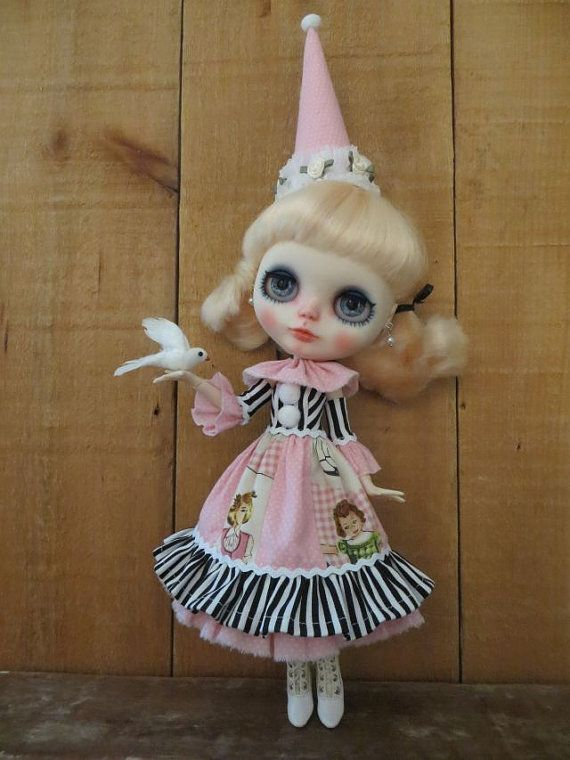 4 pc. Circus~Circus dress set for Blythe; Pure Neemo S fit.