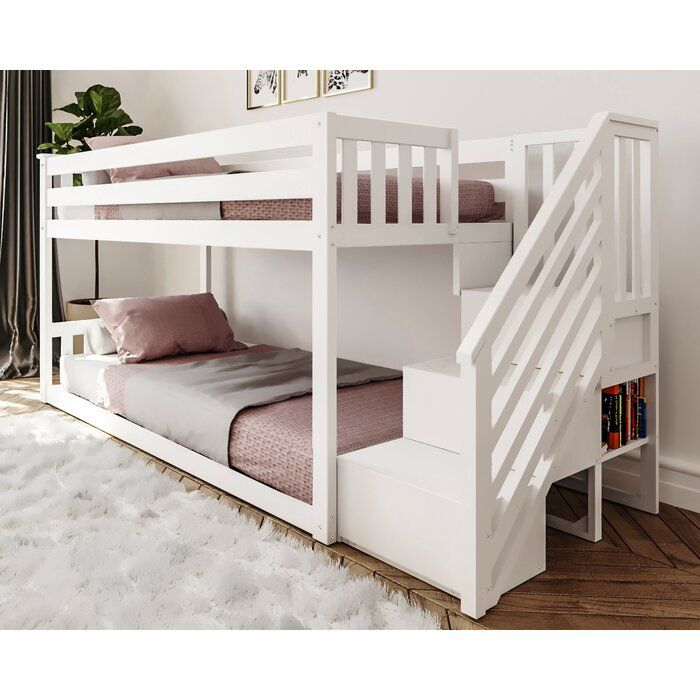 Kean Twin Over Twin Bunk Bed Bed For Girls Room Twin Bunk Beds Bunk Beds For Girls Room