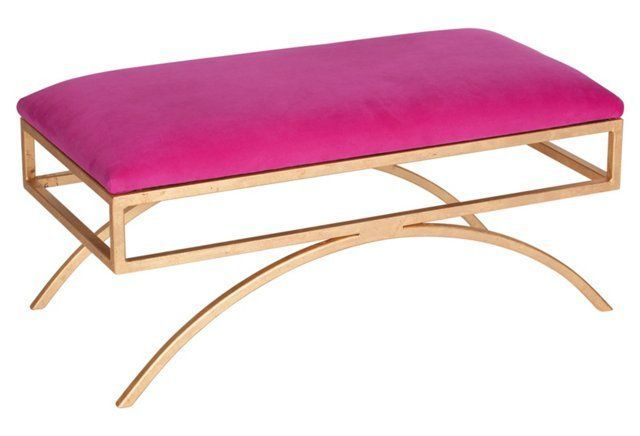 Trojan Velvet Bench, Pink | furniture | Pinterest | Bench, Barbie ...