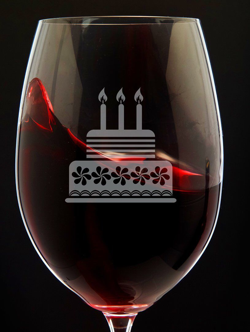 Pin On Birthday Wine Glasses