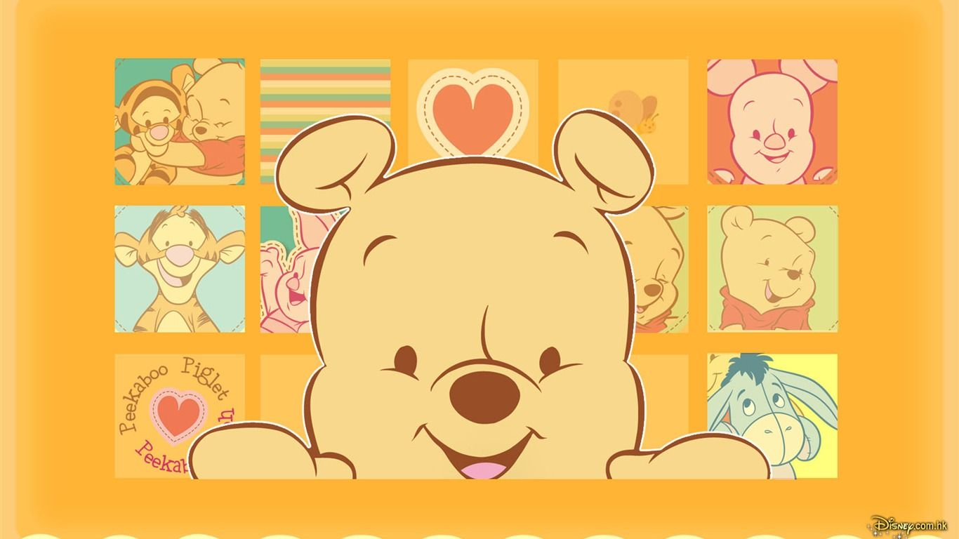 Walt Disney Cartoon Winnie The Pooh Wallpaper 1 21 1366x768 Pooh Disney Wallpaper Walt Disney Cartoons