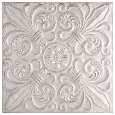 "Tiles For Wall Decor Glamorous Pier1 Embossed Tile Wall Decor $3998 On Sale From $7995 36""w Review"
