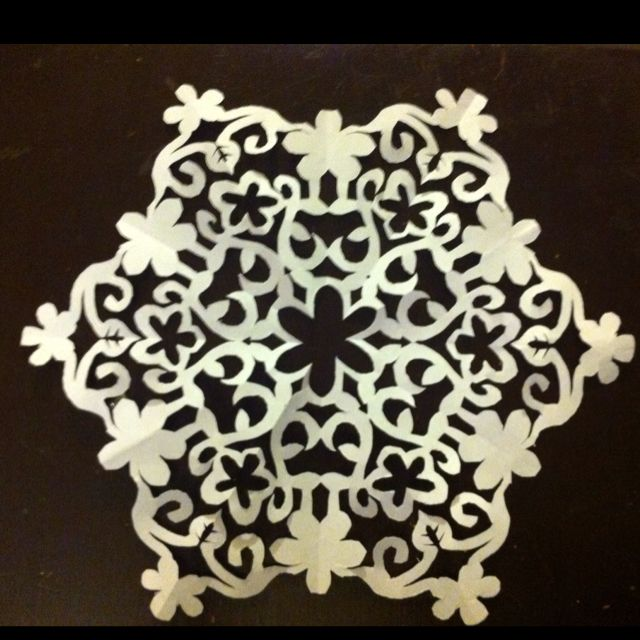 Hand cut snowflakes!