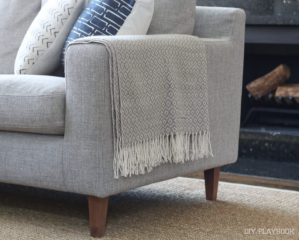 The Right Way To Display Throw Blankets On Your Couch Grey