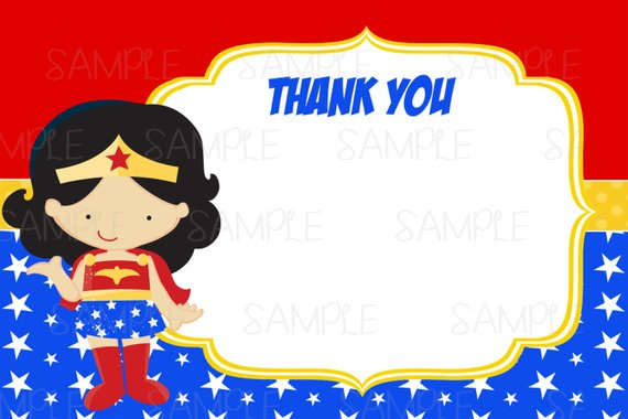picture relating to Wonder Woman Printable referred to as Quick Dowload Printable Ponder Lady Thank Oneself Card