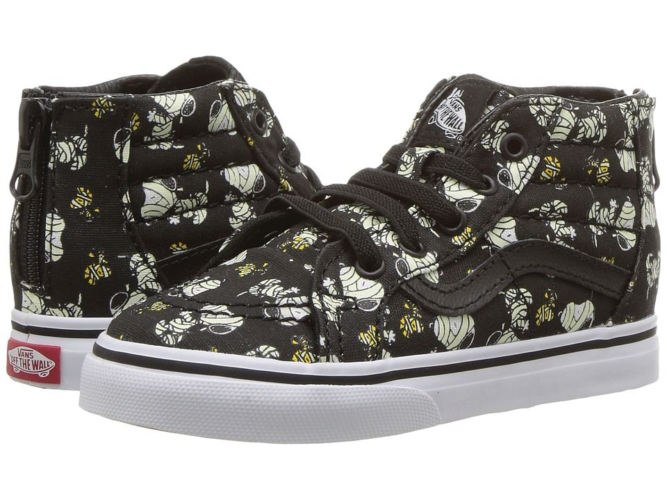 Vans Kids Sk8-Hi Zip x Peanuts (Toddler) Kids Shoes ...