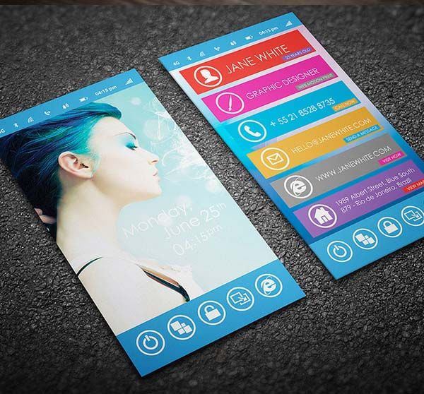 Phone business card design business card pinterest business fiverr freelancer will provide business cards stationery services and create windows 8 theme business card for you within 2 days reheart Image collections