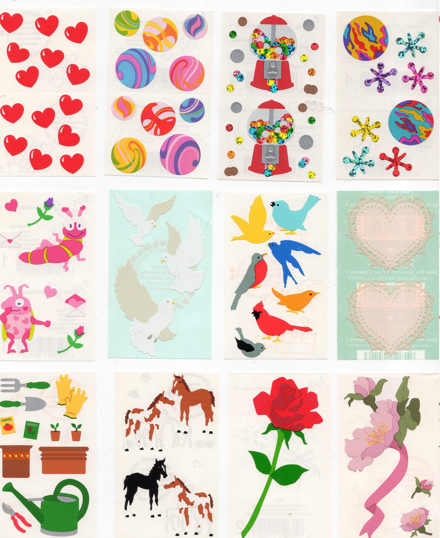 Mrs Grossman`s BIRTHDAY CAKE Decorated  Stickers 2000