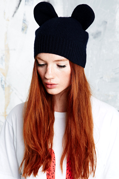 £ BUY Peter Jensen Mouse Hat in Navy / Urban Outfitters / £60