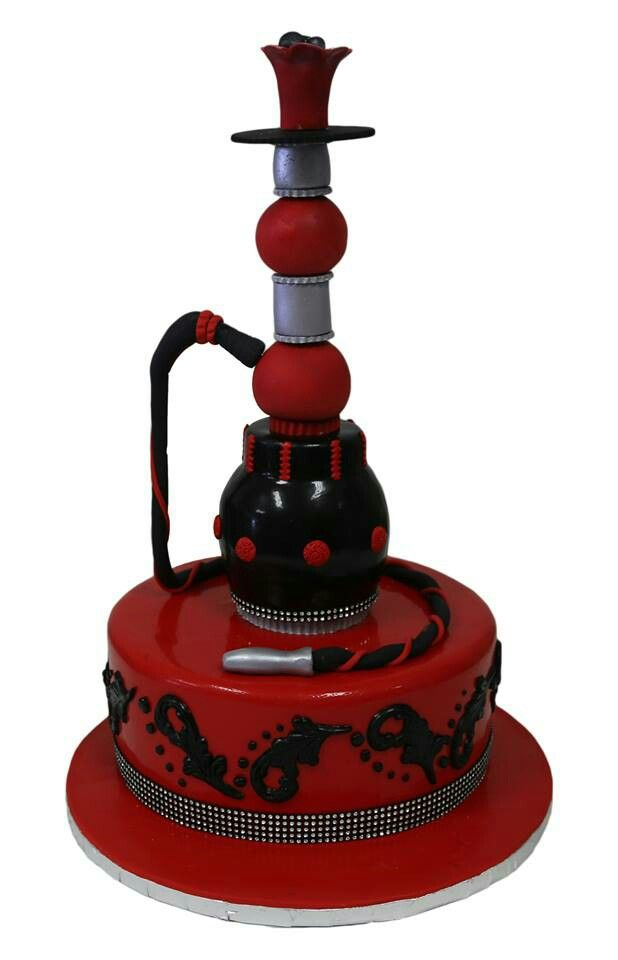 Hookah Cake Hookah Funny Cake Red Cake
