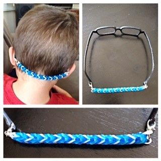 926b064b9081 Pam shared this great idea for a glasses strap on the Little Four Eyes  facebook group. I asked her for instructions, and she graciously agreed to  write them ...