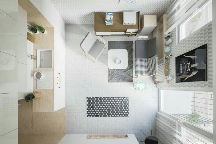 Interior   Apartamento estúdio de design de 20 m2