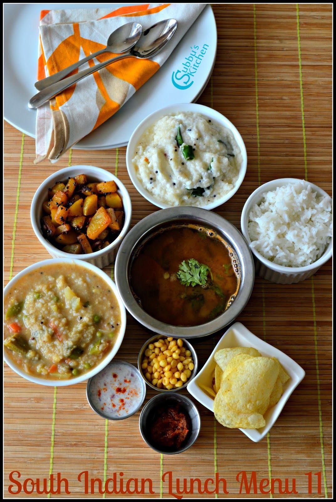 South Indian Lunch Menu 12 Bisibelabath Kalyana Rasam Potato