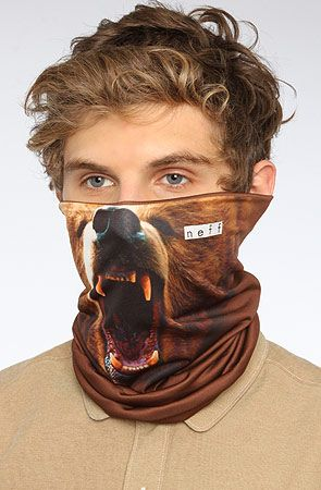 3be6b976ac NEFF The Stretchy Neck Thing in Bear   Karmaloop.com - Global Concrete  Culture