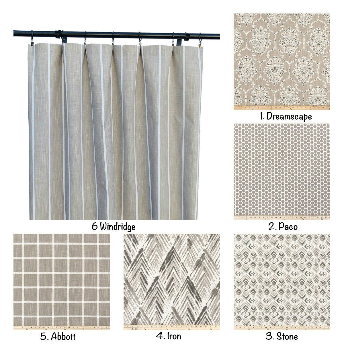 Ecru Tan Curtain Panels Tan Curtain 2 Curtain Panels Striped Polka Dot Azteca Checkered Floral Curtains In 2020 Tan Curtains Panel Curtains Lined Curtains