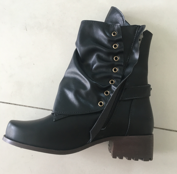 7fbb3c164ded6 Women's Shoes - Women's Real Leather Belt Martin Ankle Boots – styleNB