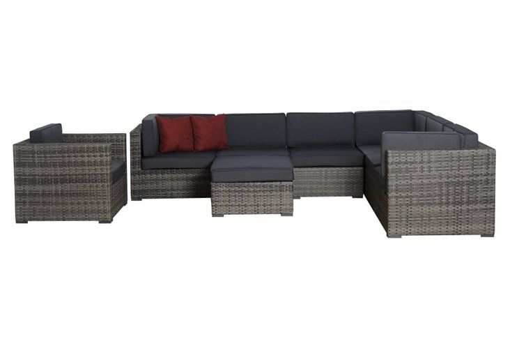 Marseille 8-pc Sectional, Gray