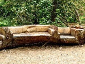 Chainsaw Carved Bench By Matthew Crabb Woodworking