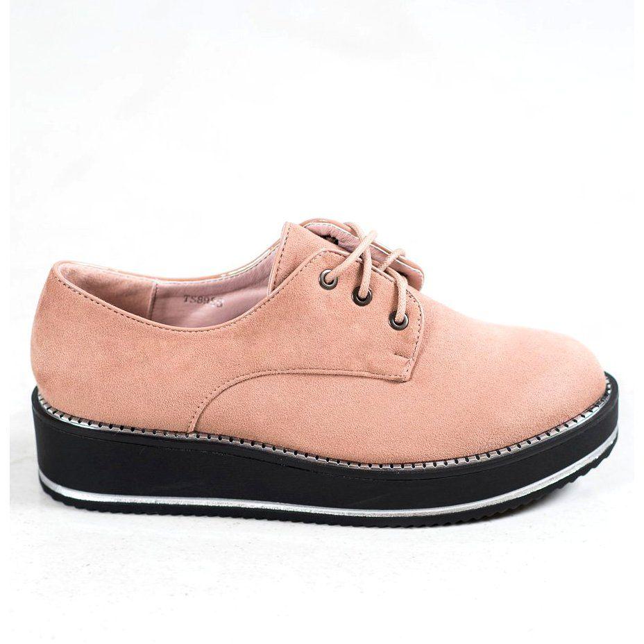 Forever Folie Polbuty Na Platformie Rozowe Dress Shoes Men Oxford Shoes Shoes