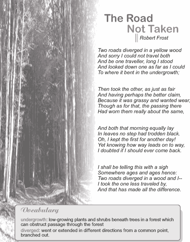 My favorite poem---Grade 9 Reading Lesson 1 Poetry The Road Not